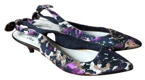 Anne Klein Black/purple floral Pumps