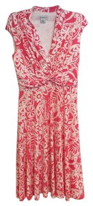 Liz Claiborne short dress Pink and White Bold Bright on Tradesy
