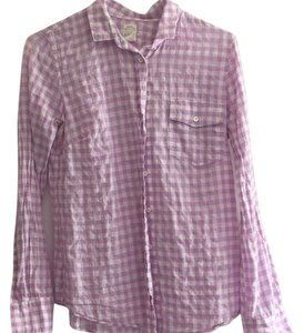 J.Crew Plaid Button Down Button Down Shirt Violet