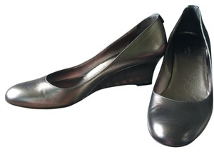 Gucci Silver Wedges