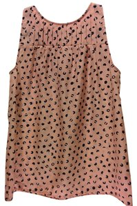 Kenar Top pink with navy dots