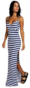 Blue and White Maxi Dress by