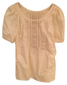 Juicy Couture New Nwt Brand New Embroidered Top Beige