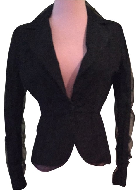Preload https://item3.tradesy.com/images/patrizia-pepe-black-fitted-tulle-overlay-blazer-size-4-s-1704912-0-0.jpg?width=400&height=650