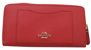 Coach Coach F54007 Crossgrain Leather Accordion Zip around WALLET