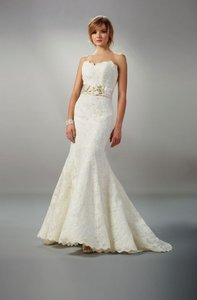 Liancarlo Style 5803 - Liancarlo Strapless Ivory Alencon Lace Gown Wedding Dress