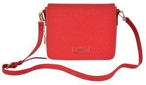 DKNY Leather Red Messenger Bag