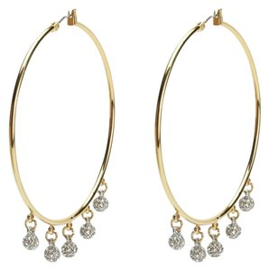Juicy Couture Pave Fireball Hoop Earrings