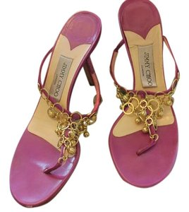 Jimmy Choo Fuschia Leather Sandals