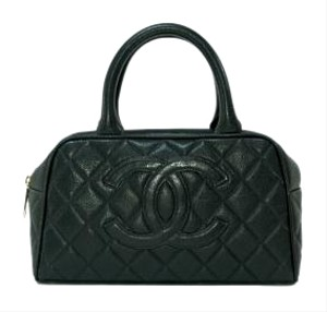 Chanel Vintage Bowler Caviar Shoulder Bag