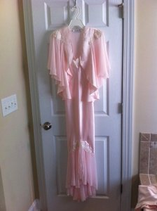 Soft Pale Pink Nightgown and Matching Jacket