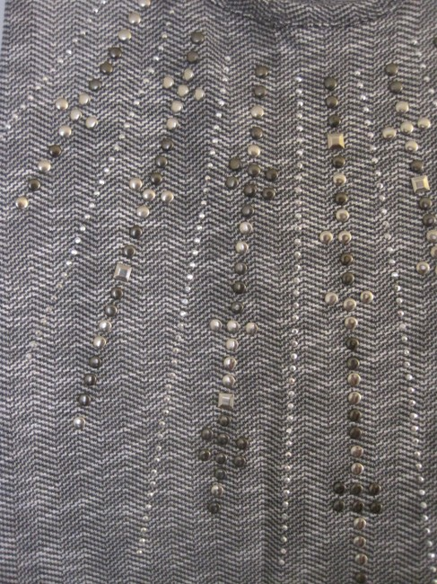Other Grey with Silver and Gold Studded Design in Front Halter Top