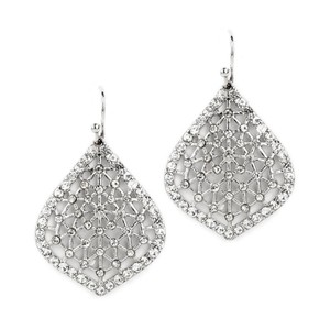 Mariell Delicate Filigree And Pave Crystal Dangle Earrings 4358e-s