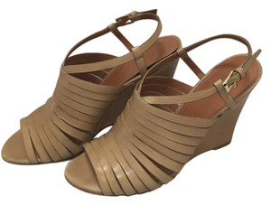 Sigerson Morrison Strappy Wedge Casual Nude Wedges