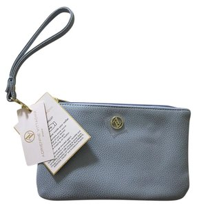 Adrienne Vittadini Charging Wallet Satchel in Pebble Blue