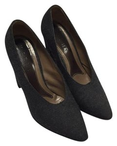 Marni Wool Felted Patterned Chunky Grey Pumps