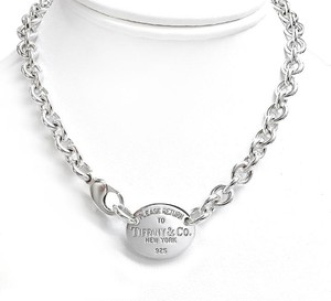 Tiffany & Co. Tiffany and Co. Sterling Silver Necklace Oval