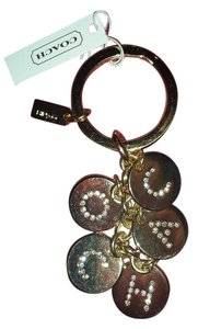 COACH COACH CRYSTAL LETTER NAME KEY FOB