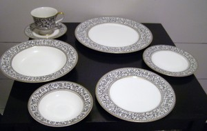 Reduced Spanish Black Lace Fine By Sango China