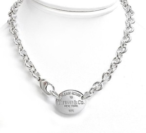 Tiffany & Co. Classic Tiffany and Co. Sterling Silver Necklace with Oval