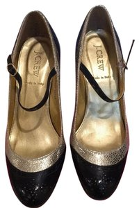 J.Crew Black, royal blue, metallic gold Pumps