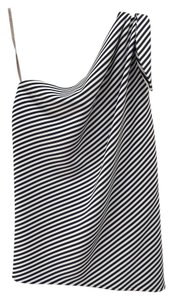 Halston Top Blue and White stripe