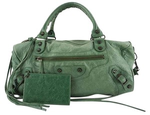 Balenciaga Town City First Editor's Satchel in Green