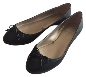 Zara Ballet Leather Black Flats