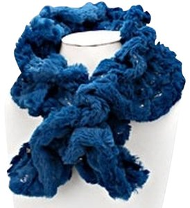 Faux fur beads scarf
