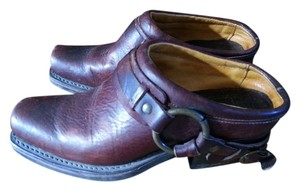 Frye Harness Leather Brown Mules