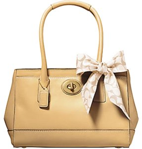 Coach Madeline 11553 Satchel Leather Tote in Buck Skin