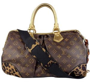 Louis Vuitton Canvas Pony Hair Satchel in Monogram