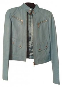 Cache Leather Sky Blue Jacket
