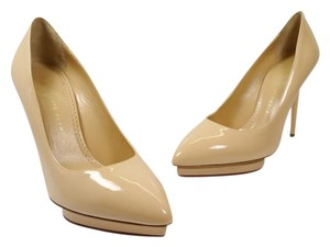 Charlotte Olympia Nude Patent Pumps