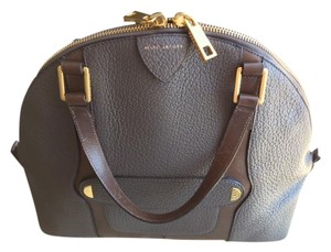 Marc Jacobs Bowler Hobo Work Classic Satchel in Putty Grey Pebble