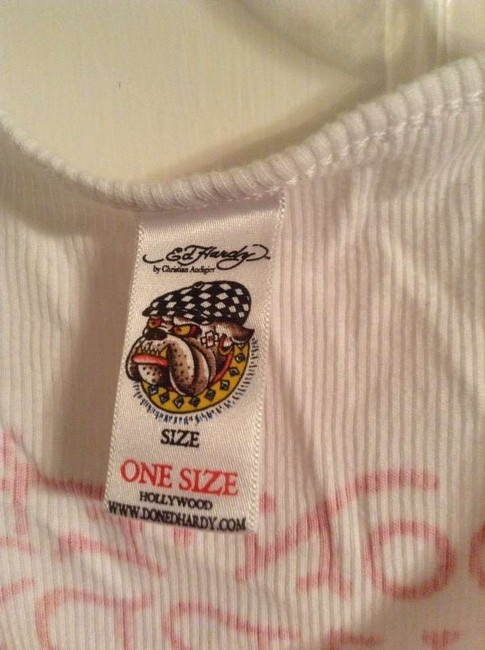 Ed Hardy Top White with tiger design