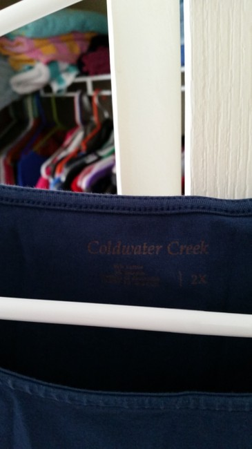 Coldwater Creek T Shirt teal blue