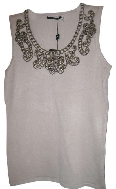 Preload https://item4.tradesy.com/images/cyrus-tank-top-beige-with-neckline-studded-decoration-1705383-0-0.jpg?width=400&height=650