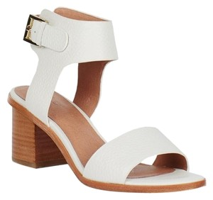 Joie Chunky Leather White Sandals