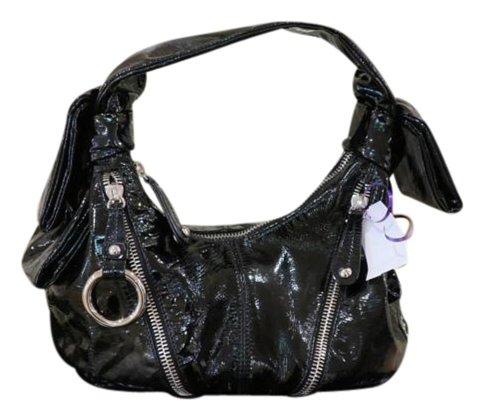 Shoulder Black Patent Moschino Leather Bag Atxxd8qHw