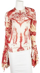 Jean-Paul Gaultier Top Red & Cream