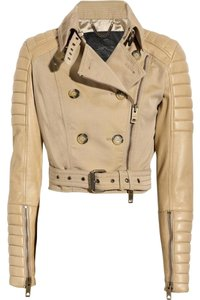 Burberry Biker Motorcycle Moto Leather Motorcycle Jacket