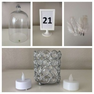 White Flameless Tea Lights Votive/Candle