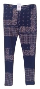 Free People Blue Leggings