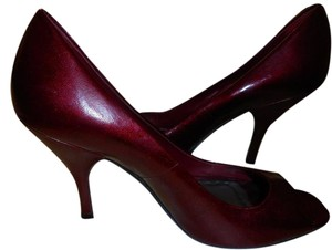 BCBGeneration Red Leather Patent Leather Party ruby red Pumps