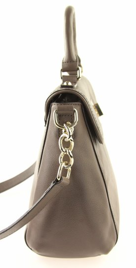 Kate Spade Leather Tote Cross Body Satchel in Grey