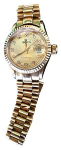 Croton Presidential Diamond Solid Gold 18k Watch