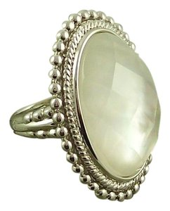 Honora Honora Mother-of-Pearl Oval Faceted Doublet Sterling Ring