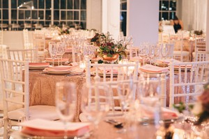 12 Rose Gold Sequins Tablecloths