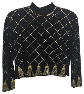 St. John Gold Knit Sweater